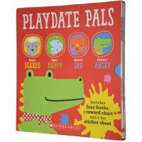 Playdate Pals Emotions 儿童情绪认知启蒙绘本 4本套装 附贴纸计划表