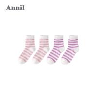 【活动价:24.5】安奈儿童装女童条纹中袜两件装新款