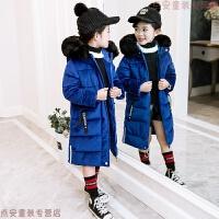 女童金丝绒棉衣2018新款韩版儿童中长款女孩棉袄加厚童装冬装