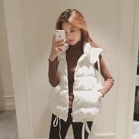 棉衣马甲女士外套秋冬连帽新款短款学生韩版背心面包服冬季坎肩外套