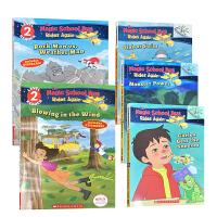 英文原版 学乐大树系列之神奇校车再出发 THE MAGIC SCHOOL BUS RIDES AGAIN 1-5册 儿童英语阅读过渡初级章节故事桥梁书 小学生课外读物 美国小学推荐读物