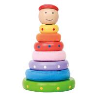 宝宝益智早教彩虹塔套圈套塔1-3岁叠叠乐积木玩具