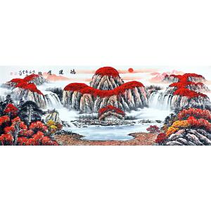 张春生  鸿运当头  著名画家 有作者本人授权 1.8米 已装裱 不含画框