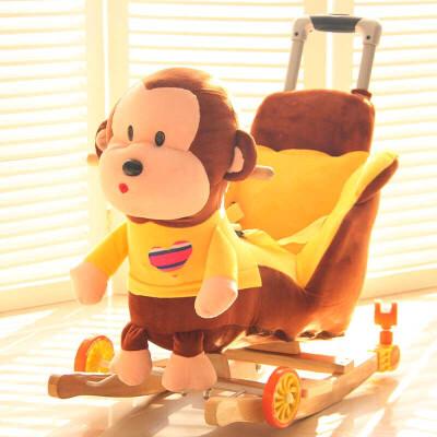 20180530191143131推杆穿衣猴摇马木马儿童音乐摇椅宝宝玩具周岁生日礼物 棕色穿衣猴带推杆(48首儿歌+5首真人唱) 发货周期:一般在付款后2-90天左右发货,具体发货时间请以与客服协商的时间为准