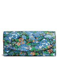 【当当自营】蔻驰(COACH)新款女士玫瑰花形花卉涂料帆布手拿包卡包钱包  F57643