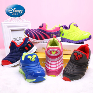 【99元任选3双】迪士尼儿童鞋米奇毛毛虫男童鞋女童鞋秋冬新款舒适跑步鞋儿童运动鞋 (5-10岁可选)DS2072