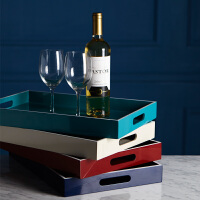 bencross桌面收纳盒木质托盘长方形茶盘餐盘北欧创意现代钥匙收纳