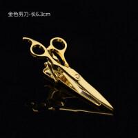 新品个性创意金色男士商务领带夹 正装新郎结婚领夹礼盒装 金色剪刀
