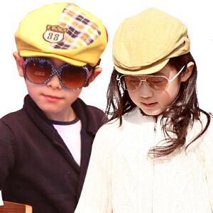 kk树儿童帽子新款宝宝遮阳帽童帽春秋男童女童帽休闲韩版潮贝雷帽
