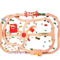 3-6-9岁男孩女孩儿童宝宝托马斯发声火车轨道木制玩具