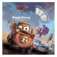 英文原版Cars 2 汽车总动员2(书 CD) 有声读物 迪士尼Read-Along系列