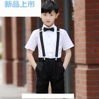 礼服男六一节短裤背带套装学生合唱演出服花童礼服男夏