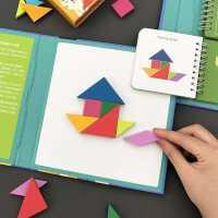 儿童磁性七巧板立体拼图2-3-4-6岁宝宝磁力拼板幼儿早教益智玩具