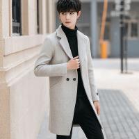 秋冬季风衣男中长款2018新款韩版修身ins超火呢子外套潮毛呢大衣
