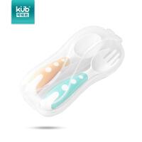 练习勺叉儿童辅食训练便携叉勺宝宝吃饭餐具套装婴儿
