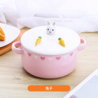 家用可爱陶瓷泡面碗日式吃饭餐具大号带盖碗筷套装学生宿舍拉面碗