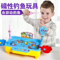 【直降3折起】电动磁性钓鱼玩具3-6岁小猫钓鱼小孩玩具带音乐灯光益智儿童玩具