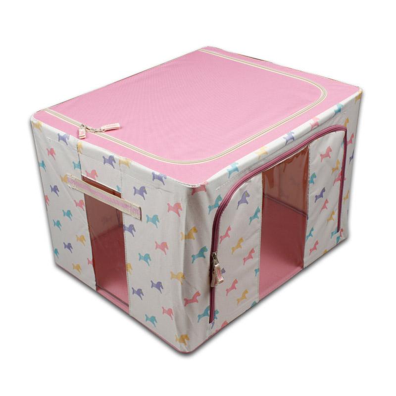 悦达 全钢架牛津布收纳箱韩国大号百纳箱收纳盒整理储物箱