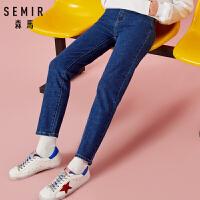 森马牛仔裤女2018冬季新款直筒长裤显瘦弹力打底裤韩版潮流chic