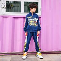 【3件2折:115.8元】小虎宝儿变形金刚男童运动套装纯棉儿童2021春装款中大童