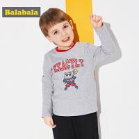 巴拉巴拉童装男童长袖T恤小童宝宝儿童春秋2018新款撞色圆领套头