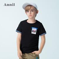 【3件3折:41.7】安奈儿童装男童圆领短袖T恤