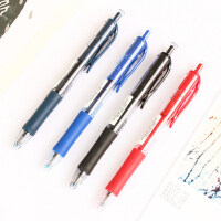 日本三菱UMN-152中性笔uniball按动式水笔0.5mm蓝黑色摁动按压式笔芯学生用摁动签字笔三棱学霸笔