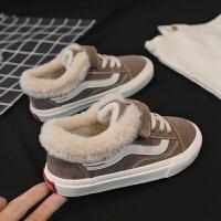 儿童棉鞋女童2018新款冬季加绒毛毛鞋保暖宝宝冬鞋加绒男童二棉鞋