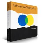 英文原版绘本Little Blue and Little Yellow小黄小蓝颜色认知Leo Lionni凯迪克奖作者