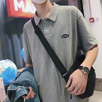 2018夏季新款短袖POLO衫男士韩版宽松绣标翻领半袖上衣休闲保罗衫