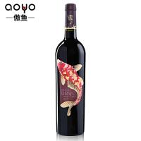 傲鱼AOYO智利原瓶进口红酒 傲鱼酒庄梅洛干红葡萄酒2017年750ml*1