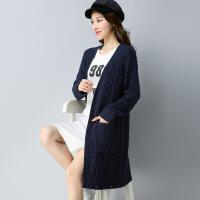 毛衣外套女开衫中长款2018秋冬季新款长袖外搭韩版宽松羊绒针织衫