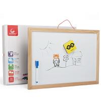 儿童黑板双面小白板挂式磁性涂鸦板益智写字创意小学生小礼物 磁性双面画板 均码