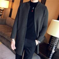 新款秋冬男士开衫外套韩版潮流款中长款毛衣社会精神小伙针织衫潮