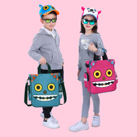 儿童补习袋小学生手提包美术袋拎书袋斜挎包男女补课书包