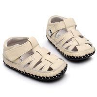 宝宝凉鞋男夏季学步鞋婴儿鞋包头沙滩鞋