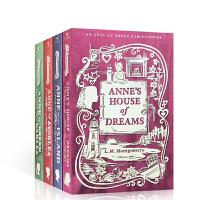 英文原版Anne of Green Gables Library 绿山墙的安妮 4册盒装 课外英语趣味阅读读物 7-1