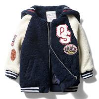 男童厚外套 秋冬季新款童装宝宝海军风夹棉外套儿童上衣