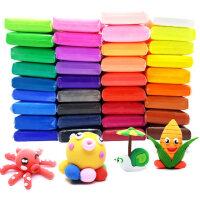 太空泥超轻粘土橡皮泥彩泥玩具24色12色无毒儿童女孩手工diy制作