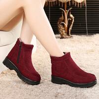 冬季中老年妈妈鞋老北京布鞋女棉鞋防滑保暖棉靴加绒加厚妈妈棉靴