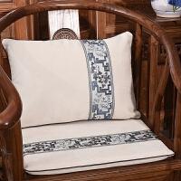 红木沙发靠垫新中式抱枕圈椅坐垫餐椅垫子靠枕罗汉床坐垫