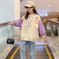 木木屋女童外套春装2021新款韩版洋气网红儿童春夏时髦潮中大童夹克