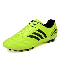 足球鞋碎钉男女儿童AG人造草地TF平底训练青少年中小学生球鞋