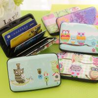 韩国猫头鹰风琴卡包超薄可爱女式多卡位卡片包公交银行卡套