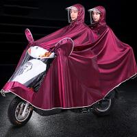 电动自行车骑行加大加厚防水雨披摩托车雨衣单人双人男女成人