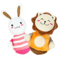 橙爱cheerbb 兔子狮子不倒翁布玩偶 宝宝毛绒带响铃布制玩具 婴儿益智启蒙0-1岁