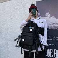 书包女韩版原宿ulzzang高中大学生双肩包大容量牛津布背包男潮流