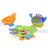 美国nuby努比小怪兽餐具儿童碗勺叉宝宝婴儿餐具套装3d立体
