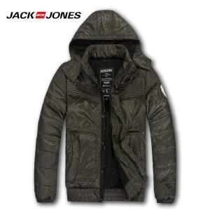 杰克琼斯冬季男士可拆卸帽保暖短款百搭棉服N-3-211422019042