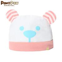 【秒杀价:20】Pawinpaw卡通小熊童装新款男女宝宝帽子婴幼儿纯棉胎帽可爱新生儿